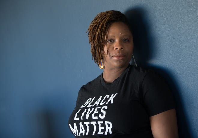 Patrisse Cullors at her home in Los Angeles, California.