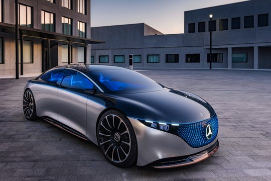 The Mercedes-Benz Vision EQS show car was introduced in 2019. It provided a preview for what the 2022 Mercedes-Benz EQS electric sedan will look like.