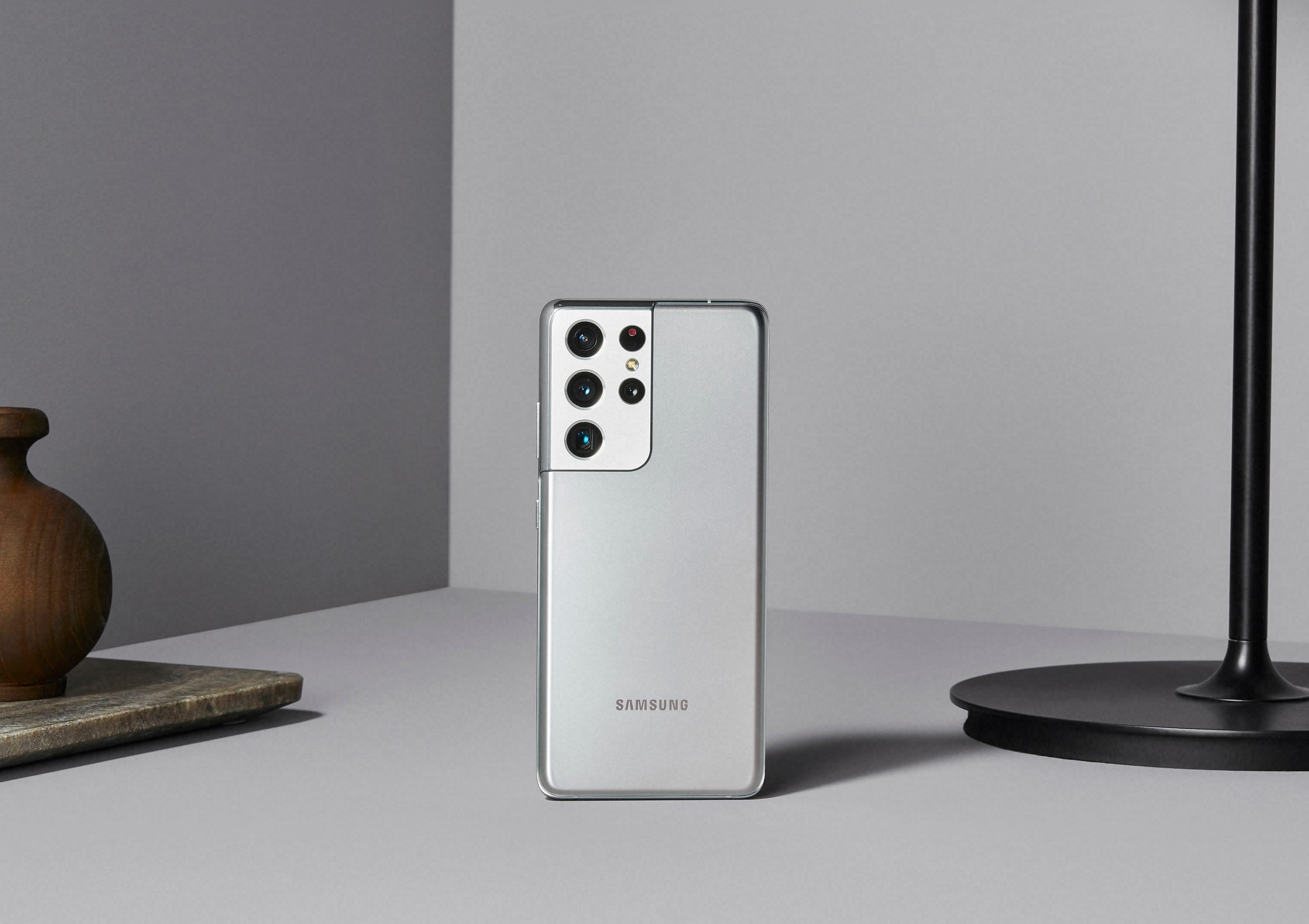 The Samsung Galaxy S21 Ultra has five cameras: four on the rear, including a dual-telephoto lens, and one in front.