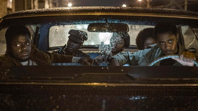 """Daniel Kaluuya, from left, Ashton Sanders, Algee Smith, Dominique Thorne and Lakeith Stanfield appear in """"Judas and the Black Messiah."""""""