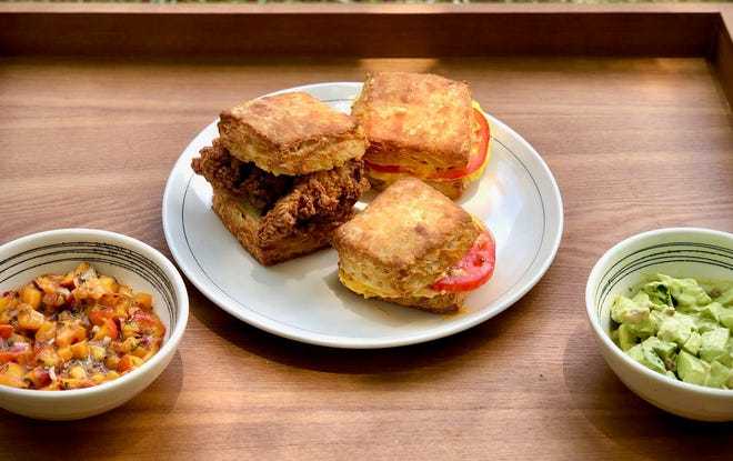 Biscuit sandwiches from Little Ola's Biscuits.
