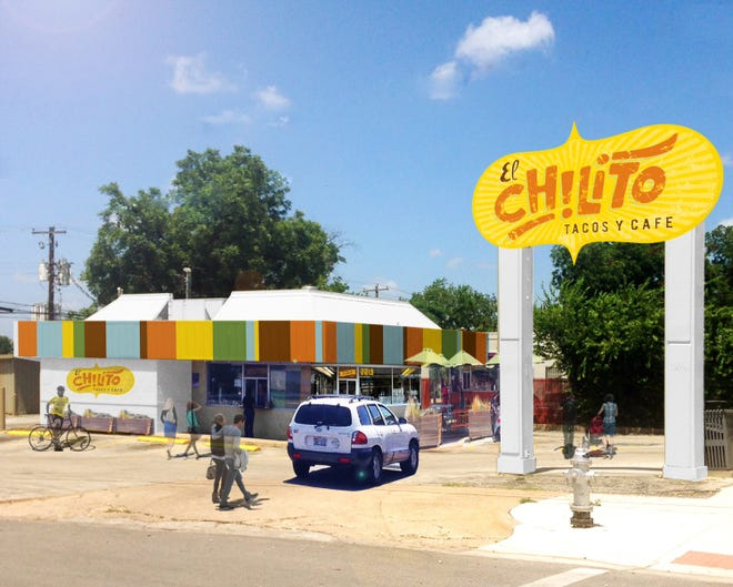 A rendering of the El Chilito taqueria coming on East Seventh Street.