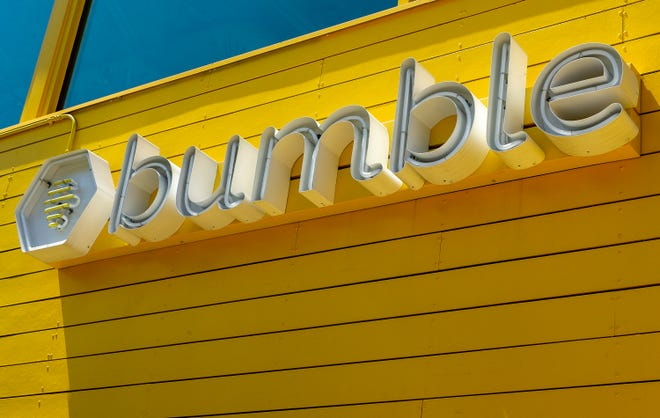Austin-based dating app company Bumble raised $2.15 billion with its initial public offering of stock on Thursday.