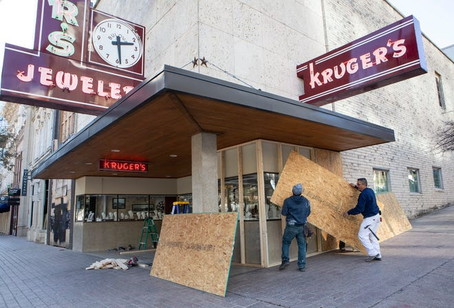 Some businesses in downtown Austin this week have secured their facades over concerns that violent political protests might erupt over the weekend.