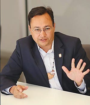 Chuck Hoskin Jr., principal chief of the Cherokee Nation, in October 2019.