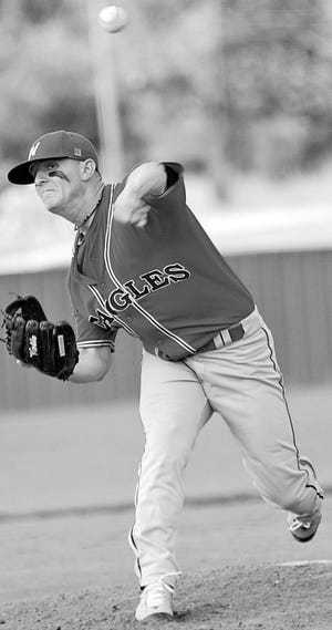 Chance Stevens provided a powerful left arm for the Oklahoma Wesleyan University pitching staff in the late 2000's. (Mike Tupa/Examiner-Enterprise)