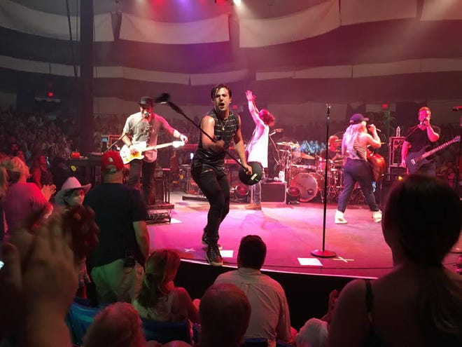 The Band Perry performs at the Cape Cod Melody Tent in Hyannis in 2016. The Melody Tent was never able to open for concerts in summer 2020 and its CEO hopes to get a portion of the $15 billion in federal Save Our Stages money to help ensure its future.