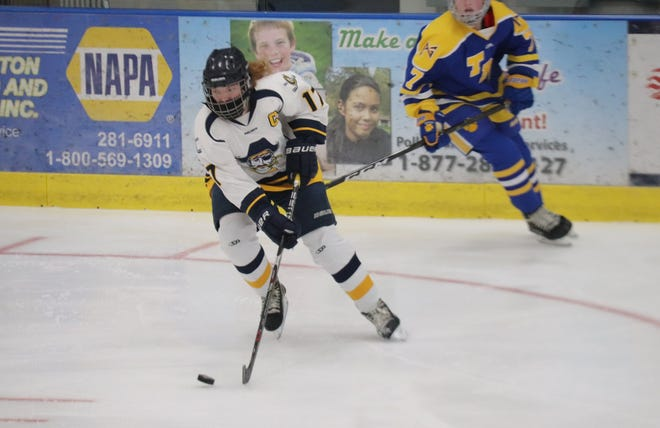 Nora Peterson and the Crookston girls' hockey team lost 3-1 to Thief River Falls on Thursday night.