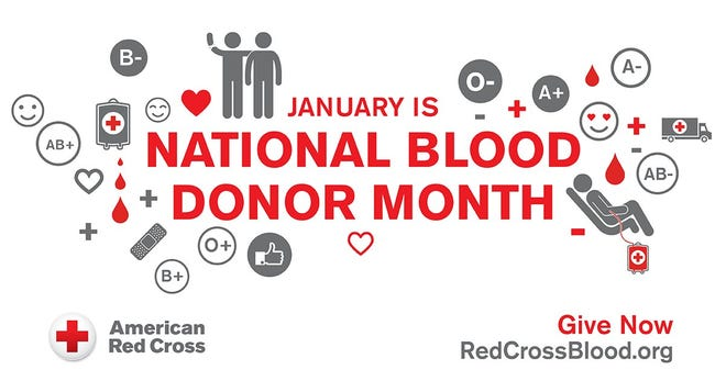 January is National Blood Donor Month.