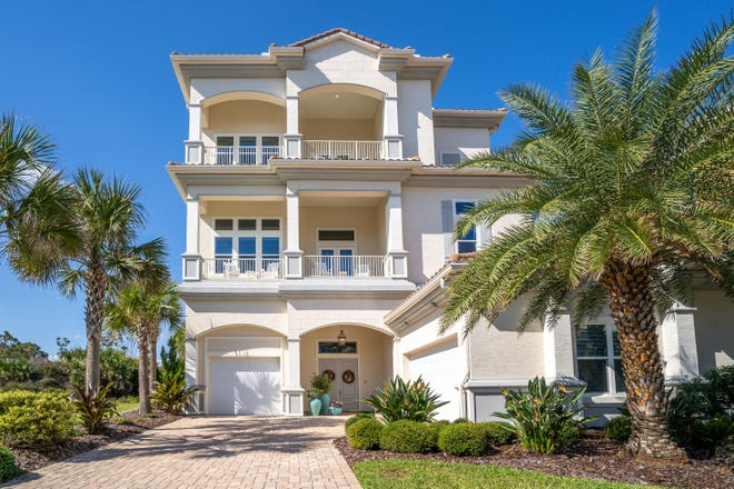 This house on Ocean Ridge Boulevard in the Hammock sold recently for $1,375,000. It has four bedrooms and four baths in 4,551 square feet of living space. Built in 2016, it has two guest suites, a screened pool and lanai with a summer kitchen, an outdoor shower, two fireplaces, four balconies and a home office.