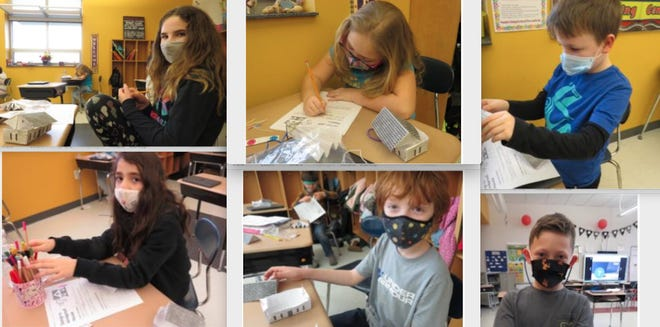 Clockwise from top left: Nicole Helt, Stephanie Williams, Joshua Angvine, Gabriel O'Sullivan,  Declain Dorcas and Anna Gallagher,  students in Mrs. Krisanda's third grade class at DVES. / Photos by Peg Snure