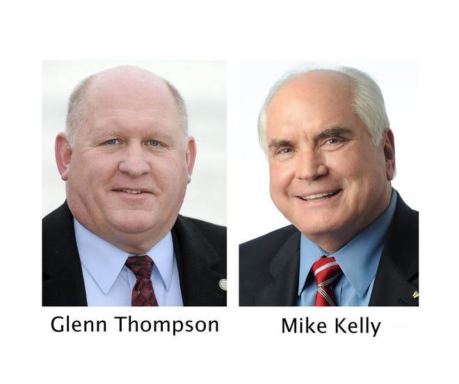 File photos of U.S. Rep. Glenn Thompson, R-15th Dist., left, and U.S. Rep. Mike Kelly, R-16th Dist.