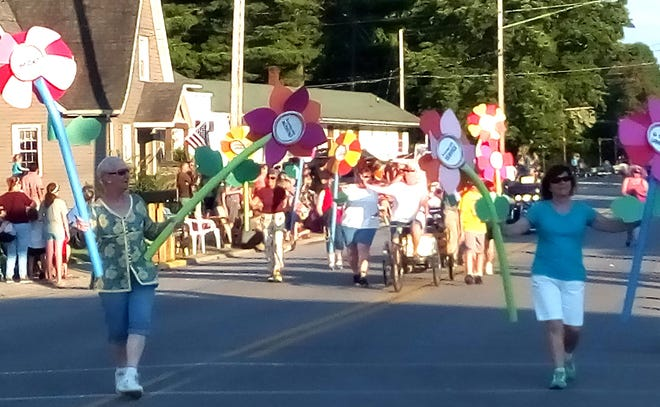 This is an undated contributed photo of Cochranton Community Fair Parade in downtown Cochranton, Crawford County.