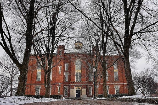 Old Main at Knox College, Friday, Jan. 15, 2021.