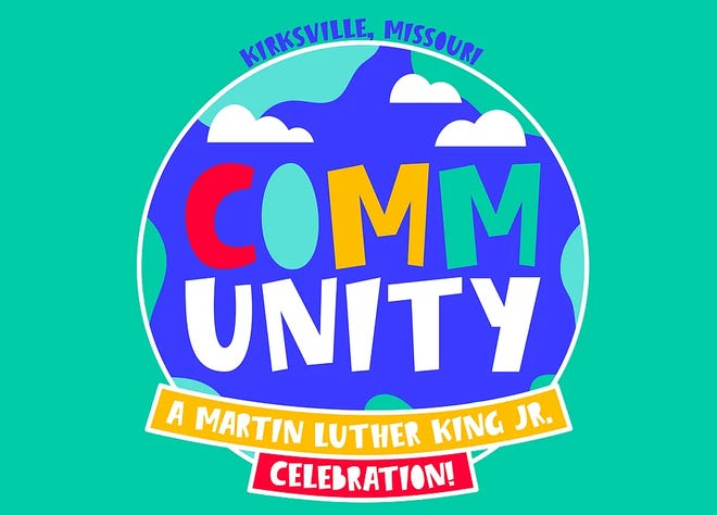 The logo for Kirksville's 2021 Martin Luther King Jr. celebration.