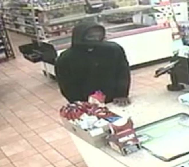 The Lubbock County Sheriff's Office on Friday release an image of a man suspected in an armed robbery Tuesday night at a Lubbock County convenience store