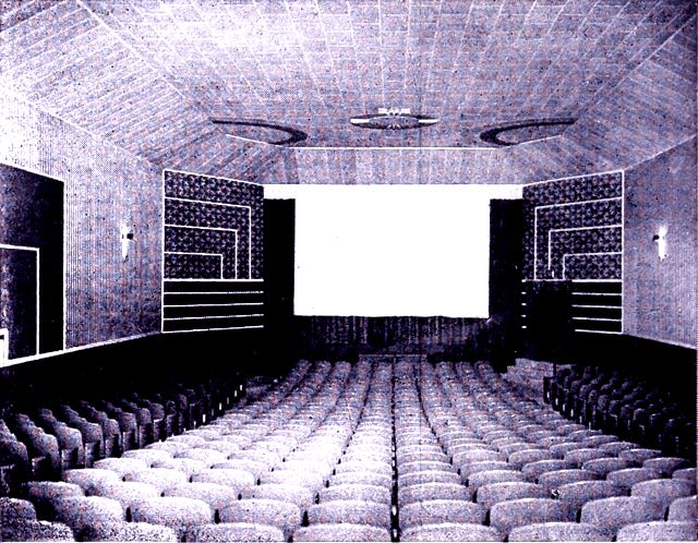 """The inside of the """"new"""" Keyser Theatre. Some of the original art deco style can still be seen inside the theater at The Indie on Main."""