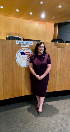 Former Marlborough and Hudson resident Brigette Peterson was sworn in as mayor of Gilbert, Arizona, on Jan. 12, 2021.