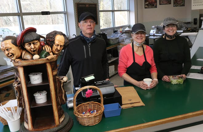 Brad's Gourmet Delicatessen will close at the end of the month after 34 years of serving customers in Hudson. At the counter are owner Brad Fillmore and managers Sherri Fedele and Catie Childs.