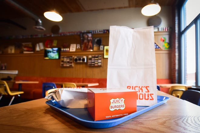 Rick's Famous Burgers will emit a classic burger joint atmosphere with packaging, music and decor from the 1970s.  It is set to open later this month on Broad Street in Utica.