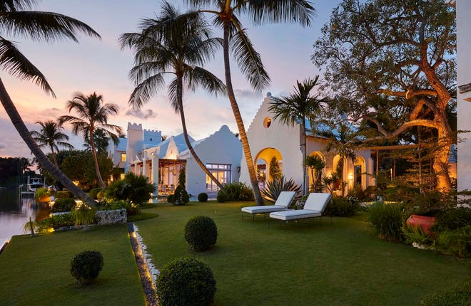 A Bermuda-style compound completed in 2014 at 320 Island Road in Palm Beach is back on the market at $45 million after selling in January for a recorded $26.151 million.