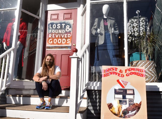 Jamie Kapral has opened Lost & Found Revived Goods on Islington Street in Portsmouth with a T-shirt design element in the back.