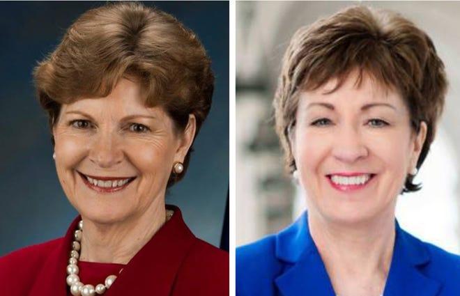 Sen. Jeanne Shaheen, D-N.H., left, and Sen. Susan Collins, R-Maine.