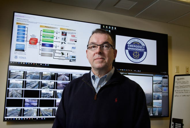 Peter Gaynor is pictured in January 2018, when he was director of the Rhode Island Emergency Management Agency. He now heads the Department of Homeland Security in the final days of the Trump administration.