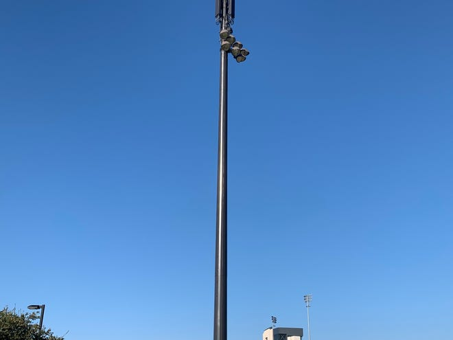 A new AT&T tower was installed at Frontier Park in Prosper