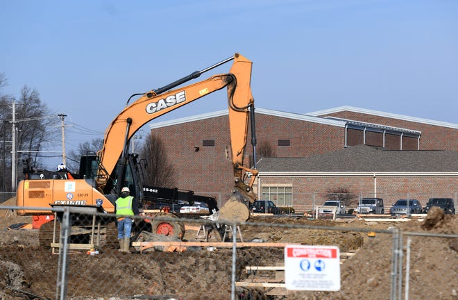 Construction continues on the new Canton Local Middle School.