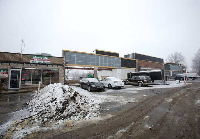 The northwest corner of Wales Avenue NW and Portage Street NW in Jackson Township is being redeveloped with a shopping plaza.