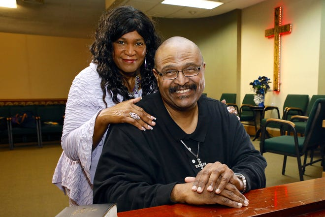 YES Club founder Carl Cole and his wife, Dianna Cole, both of Rockford, are seen Thursday in Greater New Unity Church in Rockford.