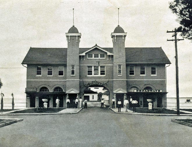The Sarasota County Commission first met in the Hover Arcade, which was built in 1913 at the foot of Main Street. It was purchased by the city in 1917.
