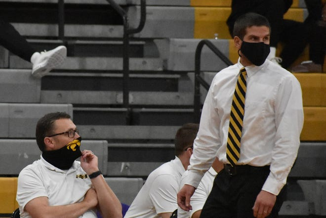 Richmond Hill boys basketball coach Bill Henderson watches a game from the sideline.