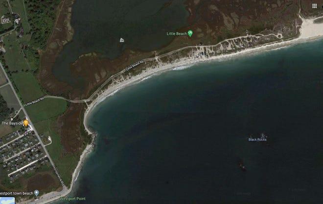 A beachcomber found part of a human skull on Little Beach said Dartmouth police.