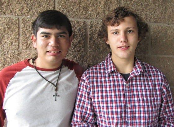Joseph, 16, and Brandon, 15