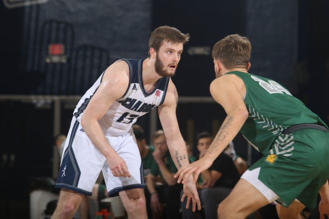 Washburn's Levi Braun (13) buried 6 of 7 3-pointers as Washburn tied a school record with 18 threes in a 99-58 win over Missouri Southern on Thursday at Lee Arena.