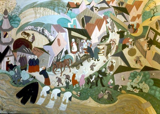 "Alexander Gassel, ""Russian Village,"" 1992"