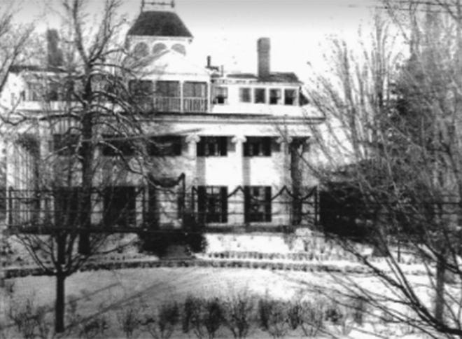 The Clapp mansion built in 1833 later burned to the ground.