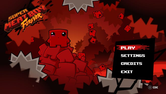 """A scene from """"Super Meat Boy Forever."""""""