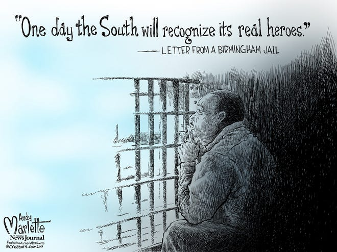 """""""One day the South will recognize its real heroes."""" Andy Marlette."""