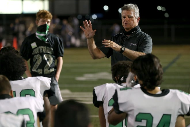 Dublin Coffman football coach Mark Crabtree stepped down Jan. 14. In 20 seasons with the Shamrocks, he had a179-55 overall record and reached the playoffs 18 times with a 22-17 postseason record.
