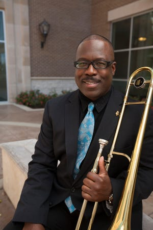Dr. Tyrone Block was selected to play for the International Trombone Festival.