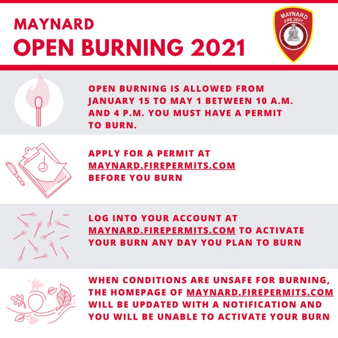 The Maynard Fire Department has launched a new burn permit portal.