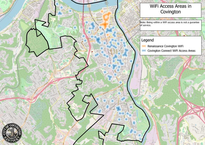 Cincinnati Bell and the City of Covington are just about finished installing 124 Wi-Fi access points, officials say.