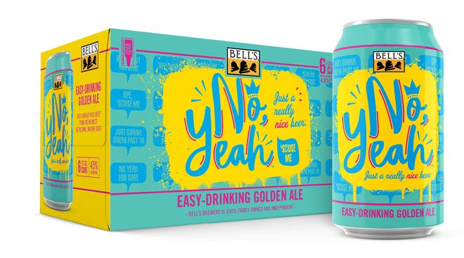 """""""No, Yeah,"""" Bell's Brewery's new year-long beer release, a golden ale at 4.5% ABV."""