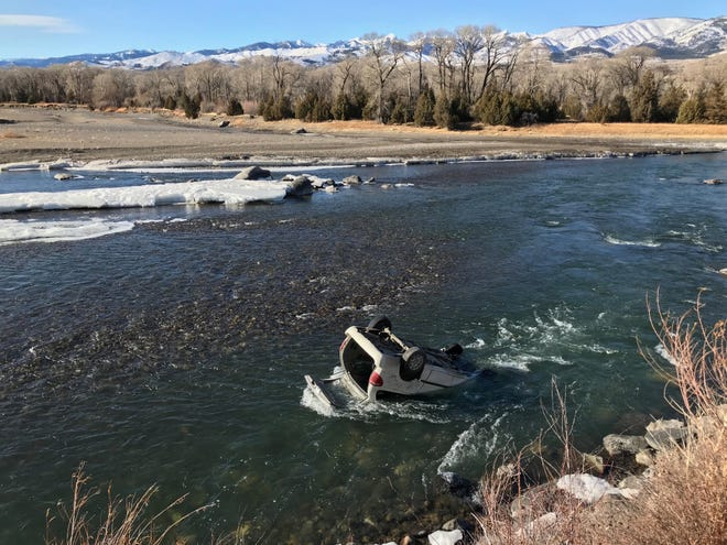 A crash that landed a car upside down in the Yellowstone River had a happy ending Thursday after a Montana Highway Patrol trooper and Park County first responders were able to pull the driver to safety.