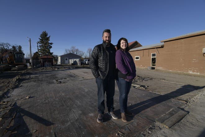 Matt and Lorie Folkman plan to start rebuilding the Bunkhouse in February.