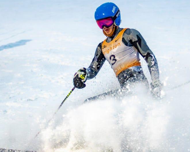 Brighton's Luke Vaden took third place in a slalom meet Thursday at Mt. Brighton.