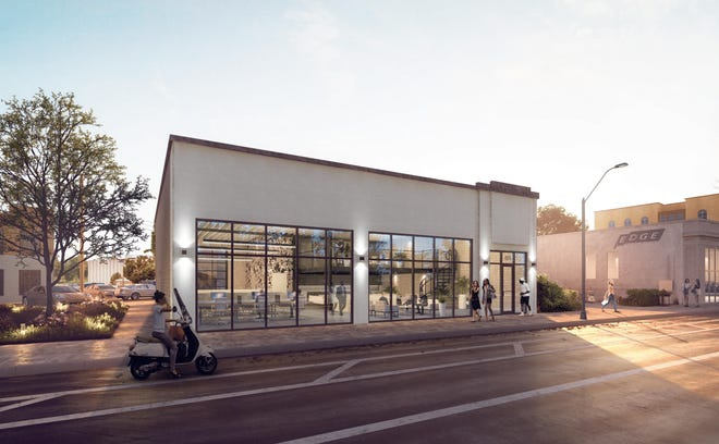 A rendering shows the location of a future gelato shop at 655 Marshall Ave.